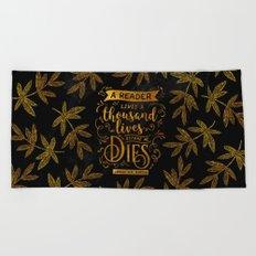 Thousand Lives - gold Beach Towel