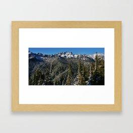 Olympic Mountain Love Framed Art Print