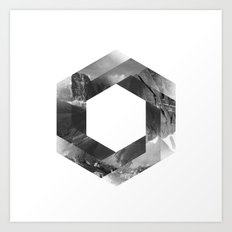 Optical landscape Art Print