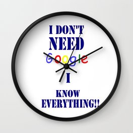 Google ME Wall Clock