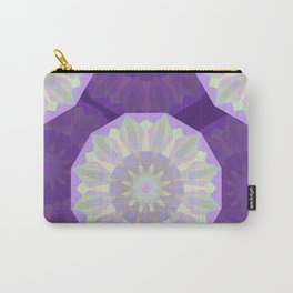Round Iridescent Geometric Background Carry-All Pouch