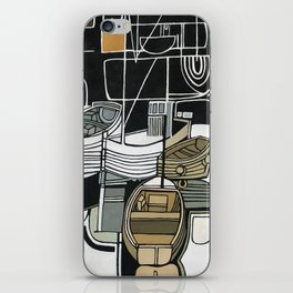 Boats in Folkestone Harbour Kent England iPhone Skin