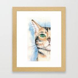 Cattitude II Watercolor Art Framed Art Print