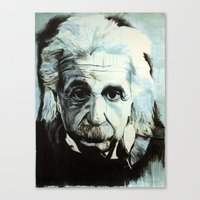 einstein Canvas Prints featuring Einstein by Olivia Potts Art