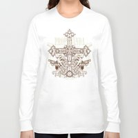 guns Long Sleeve T-shirts featuring Crossing guns by Tshirt-Factory