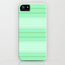 Mint Green Abstract XVI iPhone Case