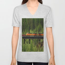 BNSF Going Over Goat Lick Creek Unisex V-Neck