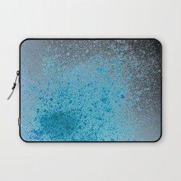 Blue and Black Spray Paint Splatter Laptop Sleeve