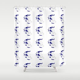 Flag of greece 2 -Greek, Ελλάδα,hellas,hellenic, athens,sparte,aristotle. Shower Curtain
