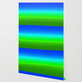 Blue Sky Green Grass Deconstructed (blue to green ombre gradient) Wallpaper