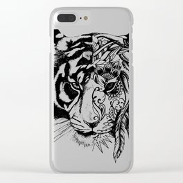 Tiger Tiger Clear iPhone Case