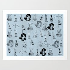 Chemistry Lab Tools Art Print