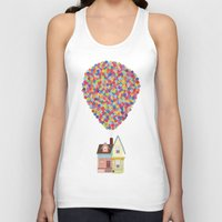 pixar Tank Tops featuring Up by LOVEMI DESIGN