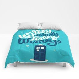 Wibbly Wobbly Timey Wimey Comforters