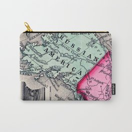 1860 Map, Russian America (Alaska) Carry-All Pouch
