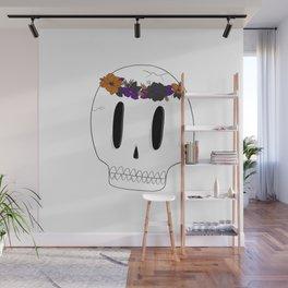 Flowercrown Skull Wall Mural