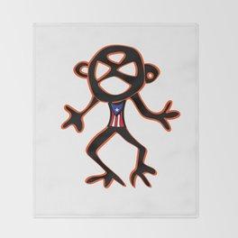PUERTO RICO Taino Symbols Throw Blanket