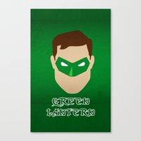 green lantern Canvas Prints featuring Green Lantern by Sport_Designs