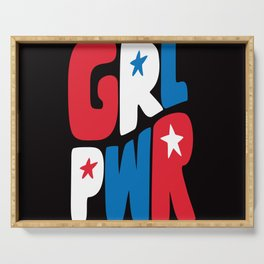 GRL PWR Red, White and Blue Serving Tray