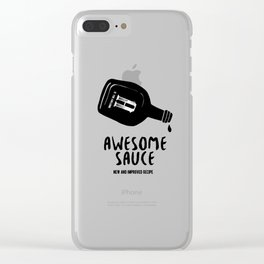 Awesome Sauce Clear iPhone Case