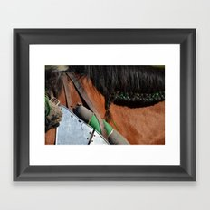 Jousting Horse - Green Braid Framed Art Print