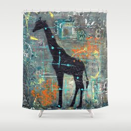majestic series: this and that giraffe Shower Curtain