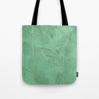 palms Tote Bags featuring Palms by Robert Høyem