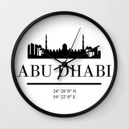 ABU DHABI UAE BLACK SILHOUETTE SKYLINE ART Wall Clock