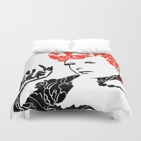 lucy Duvet Covers featuring Lucy by Rucifer