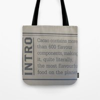 chocolate Tote Bags featuring Chocolate  by Crimson-daisies