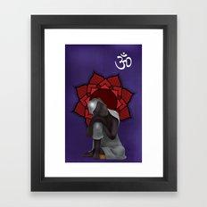 Rest my Buddah Framed Art Print