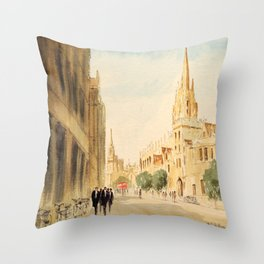 Oxford High Street Throw Pillow
