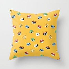 Halloween Pumpkin Robot Parfait Throw Pillow