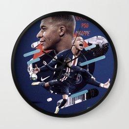 Kylian Mbappé artwork Wall Clock