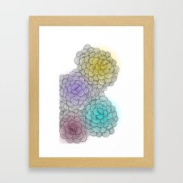 Line drawing 1 Framed Art Print