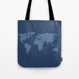 Denim Map Tote Bag