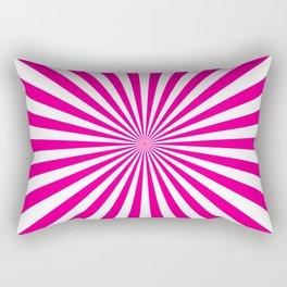 Starburst (Magenta/White) Rectangular Pillow