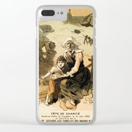 1890 Drowned fishermen charity ball by Chéret Clear iPhone Case