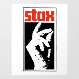Stax Art Print