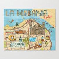 cuba Canvas Prints featuring Cuba by Sahily Tallet Yip