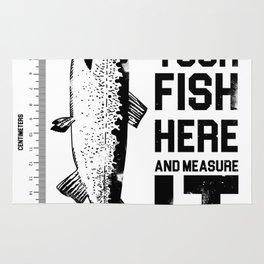Amazing fish-sized t-shirt ideal for big fisherman Rug