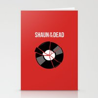 shaun of the dead Stationery Cards featuring Shaun of the Dead - Record by Nick Kemp