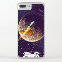 Tour the Universe - Sci fi poster Clear iPhone Case