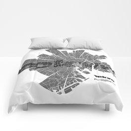 Tokyo Map Comforters