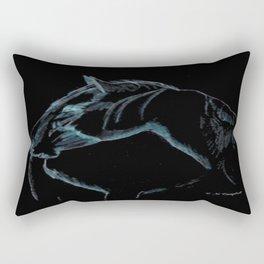 """ Black Stallion "" Rectangular Pillow"