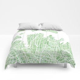 Sydney Australia watercolor city map Comforters