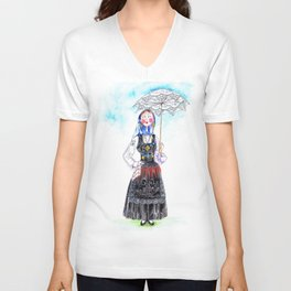 MARIA FROM DOURO-PORTUGAL Unisex V-Neck