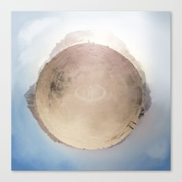 Burning Man Planet Canvas Print