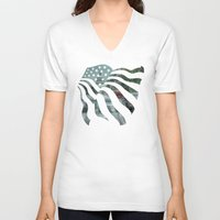 dc V-neck T-shirts featuring DC Traffic by Geni