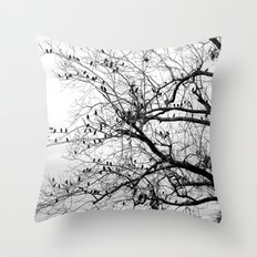 A Tree Full of Birds Throw Pillow